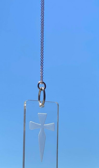 JS crystal clear necklace