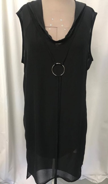 hey jo black sleeveless top