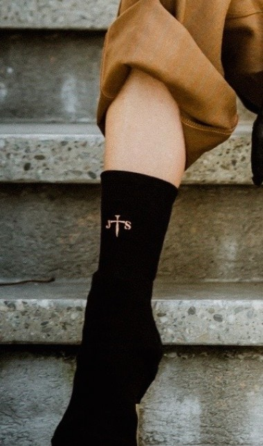 JS Exclusive black sock