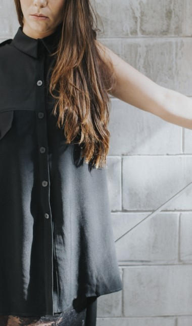 judgement drape shirt dress