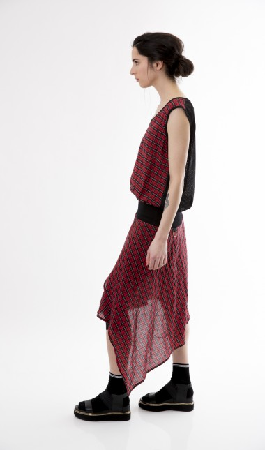 Aberdeen Tartan drape dress