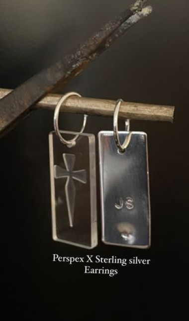 sterling perspex earrings