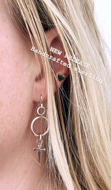 JS dagger drop earrings