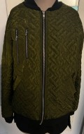 JS Army green quilted bomber