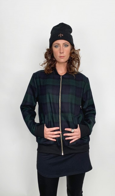 Black watch bomber jacket